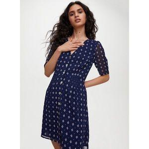Aritzia Wilfred Button-Front Dress, Navy, size 4